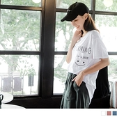 《AB12875-》台灣製造.高含棉造型英字印花口袋男友T上衣 OB嚴選