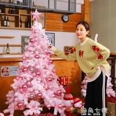 植絨粉色圣誕樹套餐裝1.5米1.8米2.1米家用圣誕節裝飾品抖音網紅 海角七號