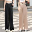 冰絲寬管褲女2020年新款夏季薄款高腰垂感寬鬆直筒黑色拖地休閒褲 黛尼時尚精品