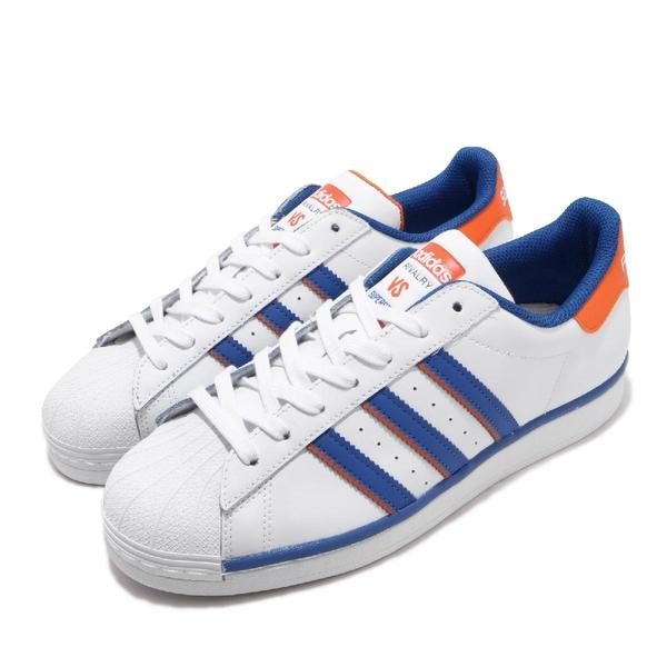 adidas 休閒鞋 Superstar Rivalry 白 藍 橘 男鞋 運動鞋 【ACS】 FV2807