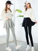 季純棉假兩件打底褲裙女外穿薄款裙褲帶裙大碼高腰連褲裙 快速出貨