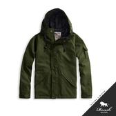 【Roush】 軍事工裝鋪棉連帽風衣外套 -【815967】