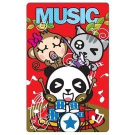 【收藏天地】防水撕不破*趣味票卡貼-動物樂團 / 悠遊卡 e卡通 感應卡 門禁卡