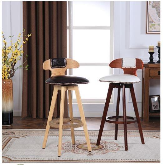 【南洋風休閒傢俱】吧台椅系列-LOFT鉚釘實木吧檯椅 美式鄉村吧台椅 實木復古吧台椅