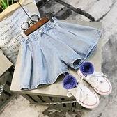 女童牛仔褲 薄款寬鬆休閒牛仔褲