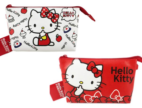 【卡漫城】 Hello Kitty 手機袋 可觸控 二款選一 皮革 ㊣版 拉鍊 肩背 萬用 手機 化妝包 側背包