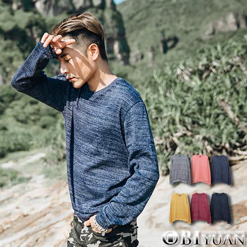 針織衫大學T【JG6290】OBI YUAN韓版繽紛麻花素面圓領毛衣 共6色
