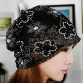 夏季包頭月子帽 網紗女春夏薄款套頭帽 LR3093【野之旅】