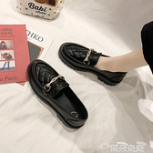 小皮鞋小皮鞋女英倫風女鞋2021年春季新款復古厚底黑色樂福鞋松糕jk單鞋  雲朵 上新