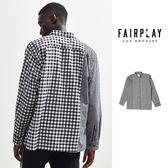 【GT】FairPlay Merillion 黑 長袖襯衫 寬鬆 拼接 復古 格紋 條紋 格子 棉質 休閒 美牌