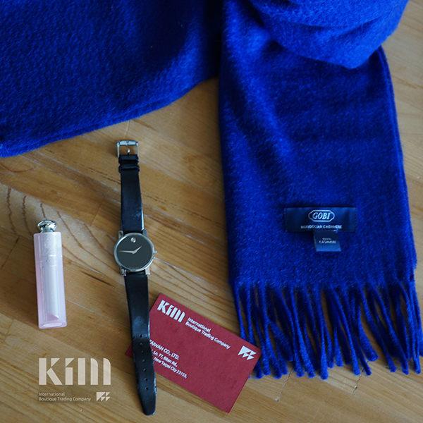 可傑 KIM Taiwan 聰穎效率.群青藍『GOBI 100% 喀什米爾圍巾』 原價3500 限時85折 $2975