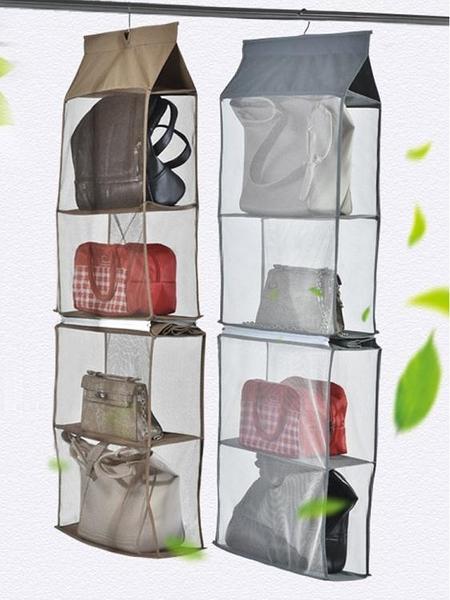 百露包包收納掛袋立體包架衣櫃懸掛式整理袋多層布藝防塵儲物架 錢夫人小鋪