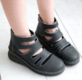 MODO超透氣/涼感短靴/舒適內裡-THE ONE 手工氣墊鞋 (全牛皮)-F52812  鐵灰