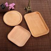 日式創意復古木盤甜點拍照道具圓長方形托盤木制餐具食品攝影擺件 igo