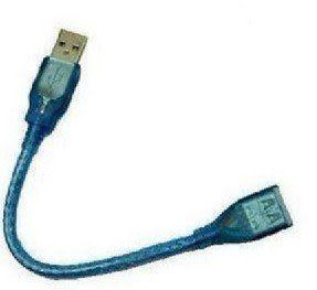【世明國際】30公分USB延長線 透明USB2.0帶遮罩磁環 公對母延長線