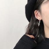 #耳環#簡約#十字架 鍊條 流蘇 吊墜 個性 甜美 氣質 耳釘 耳環 【SE627】 icoca  3/27