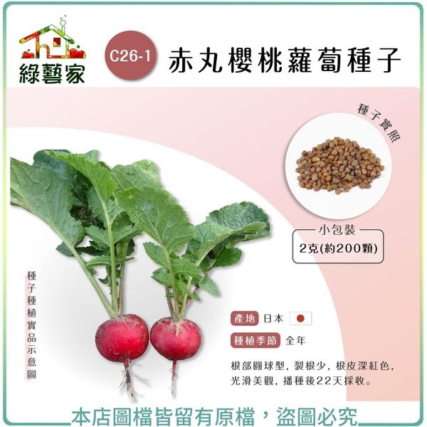 【綠藝家】C26-1.赤丸櫻桃蘿蔔種子2克(約200顆)