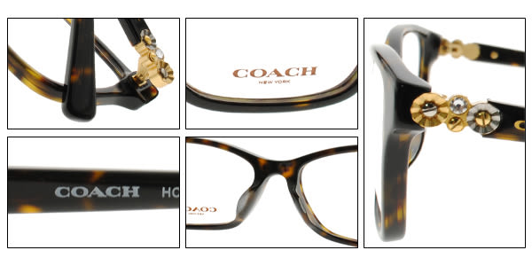 COACH 光學眼鏡 CO6091BF 5120 (琥珀棕) 時尚小花晶鑽款 # 金橘眼鏡