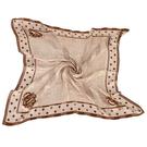 Christian Dior 時尚細格點點邊框大絲巾(咖色)179006-1