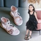 女童涼鞋 女童涼鞋新款時尚學生夏季中大童女孩小公主軟底花朵兒童鞋子 韓菲兒
