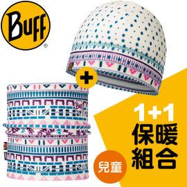 【BUFF 西班牙 兒童 雪漾派對POLAR保暖帽+POLAR保暖領巾組合 】11346/秋冬款/★滿額送