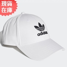 【現貨】Adidas Trefoil Baseball Cap 帽子 老帽 白【運動世界】FJ2544