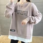 長袖上衣衛衣寬鬆TM-2XL字母棉質寬鬆長袖衛衣TCF02--2308.胖胖唯依
