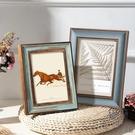 相框擺臺歐式做舊畫框兒童寶寶相冊框桌面擺件【極簡生活】