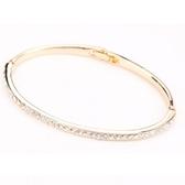 手環 925純銀鑲鑽銀飾-優雅氣質生日情人節禮物女手鍊7色73ak33[時尚巴黎]