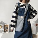帆布包六折 簡約單肩包斜挎大容量包包純色帆布袋學生書包女 印象家品