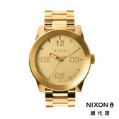 NIXON 手錶 原廠總代理 A346-502 CORPORAL SS 金色 潮流時尚鋼錶帶 男女  生日 情人節禮物