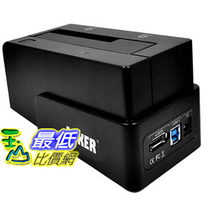 [美國直購] Anker AK-68UPSHDDS-BU USB 3.0 & eSATA to SATA External Hard Drive Docking Station 外置硬碟 外接硬碟