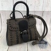 BRAND楓月 DELVAUX Brillant系列 黑色 爆裂紋特殊款 MINI尺寸 全新未使用 手提包 肩背包