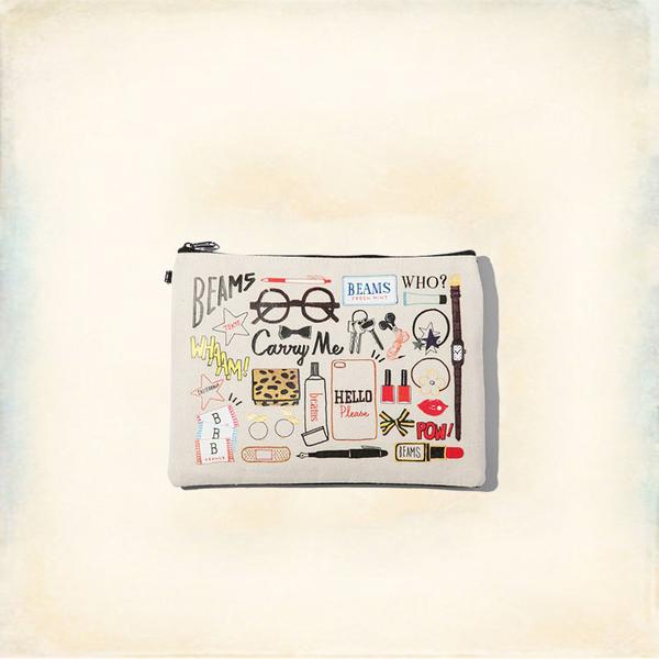 Melek 化妝包 (共1色) 現貨【A01160913-0302】女化妝包滿版塗鴉黑白化妝包/筆袋