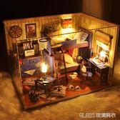 diy小屋手工制作小房子模型別墅拼裝玩具建筑創意生日禮物男女生  琉璃美衣