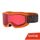 法國 Bolle AMP 兒童款 雙層鏡片設計 防霧雪鏡 橘怪獸/朱紅 #21519