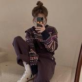 毛衣 古著毛衣女秋冬外穿韓版學生復古厚針織衫寬鬆套頭毛線衣外套 優惠兩天