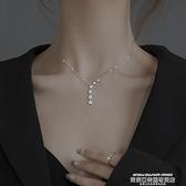 項鍊 純銀星星項鍊輕奢小眾2021年新款女鎖骨鍊設計感2021簡約裝飾品 新品