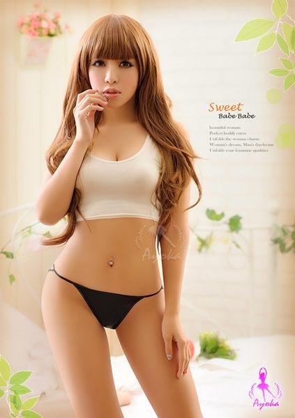 情趣用品-女用商品 美臀造型低腰翹臀性感內褲 T字褲-黑色