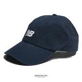 NEW BALANCE 帽子 NB 深藍 刺繡LOGO 老帽 休閒 (布魯克林) LAH91014NGO