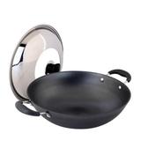 鑄鐵鍋-生鐵不生鏽不黏鍋加厚平底湯鍋66f52【時尚巴黎】