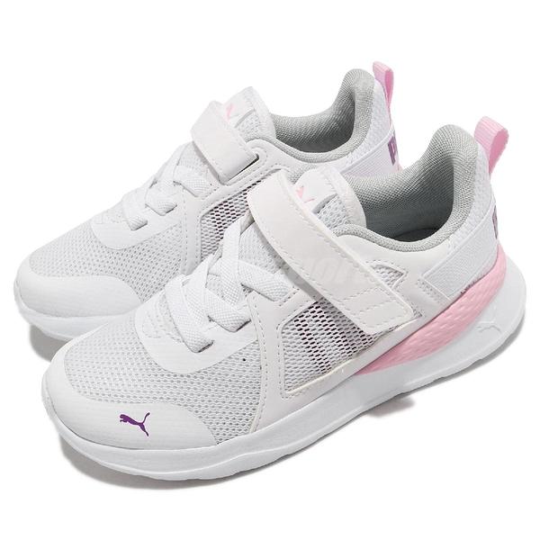 Puma 慢跑鞋 Anzarun AC PS 白 粉 童鞋 中童鞋 基本款 運動鞋 【ACS】 37203911