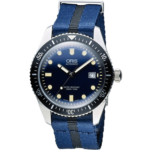 Oris豪利時 Divers系列 Sixty-Five潛水機械腕錶  0173377204055-0752128FC
