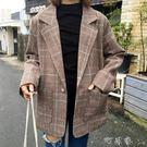 春裝女韓版復古學院風一粒扣大翻領外套西裝...