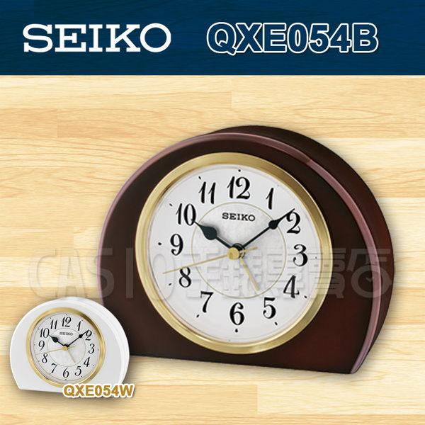 CASIO 手錶專賣店 SEIKO 精工 時鐘 QXE054B/QXE054  桌上型時鐘  嗶嗶聲鬧鈴 木質