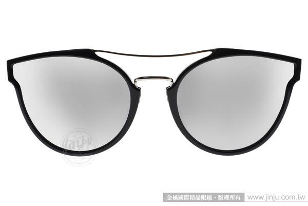 PAUL HUEMAN 太陽眼鏡 PHS1100A 05-1 (黑銀-白水銀) 前衛造型水銀鏡面款 # 金橘眼鏡