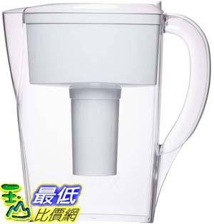 [106美國直購] Brita 6 Cup Space Saver BPA Free Water Pitcher with 1 Filter, White