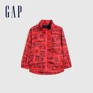 Gap男幼童 童趣拉鍊式防雨連帽外套 681568-紅色
