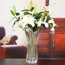 交換禮物 花瓶 加厚加重玻璃花瓶插花花瓶百合富貴竹透明玻璃花瓶花瓶擺件