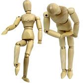 全館免運 大小號木制人偶模型玩具百變關節木偶